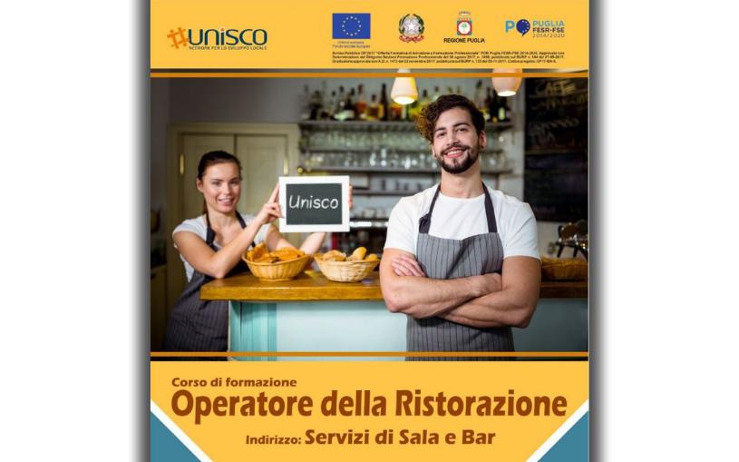 """Corso gratuito triennale """"OPERATORE DELLA RISTORAZIONE ind. Sala e Bar"""" – O.F. 17"""