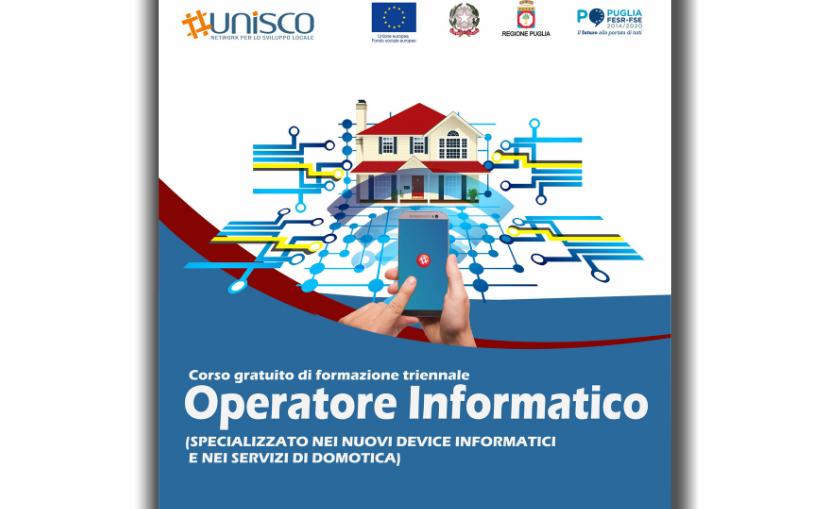 """Corso gratuito triennale """"OPERATORE INFORMATICO"""" – O.F. 19"""