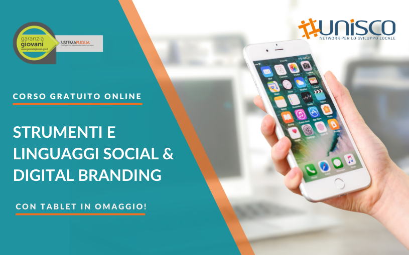 "Corso gratuito ""Strumenti e Linguaggi di Social Media Marketing & Digital Branding"""